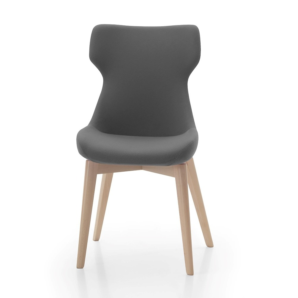 Ikon Chair with wooden base