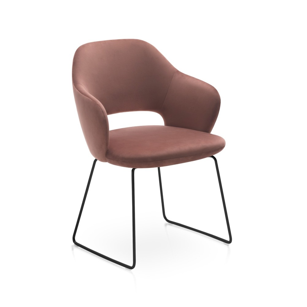 Corex Chair – Skid Frame_black